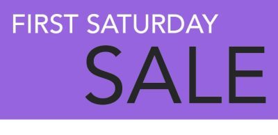 1st Saturday Sale