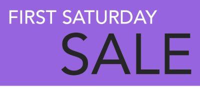1st Saturday Sale