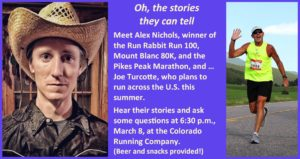 Talk and Q&A with Alex Nichols and Joe Turcotte @ The Colorado Running Company