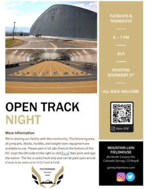 Open Track Night at UCCS