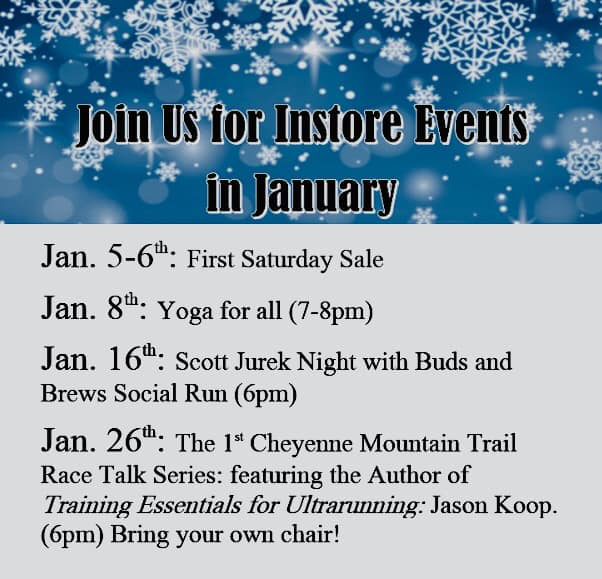 Mark your calendars for all of our fun events in January!