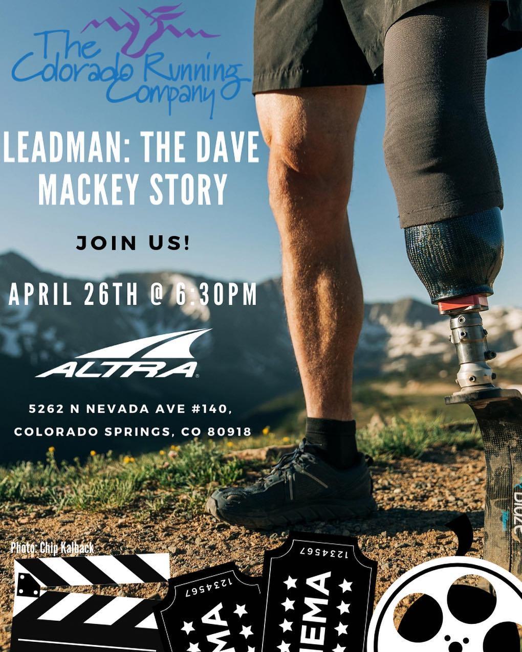 Leadman: The Dave Mackey Story  4/26, 6:30pm
